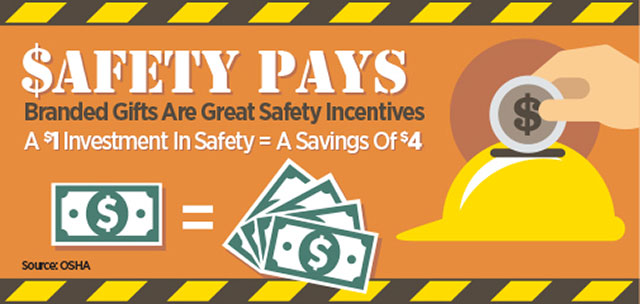 Workplace Safety Promotional Items Infographic
