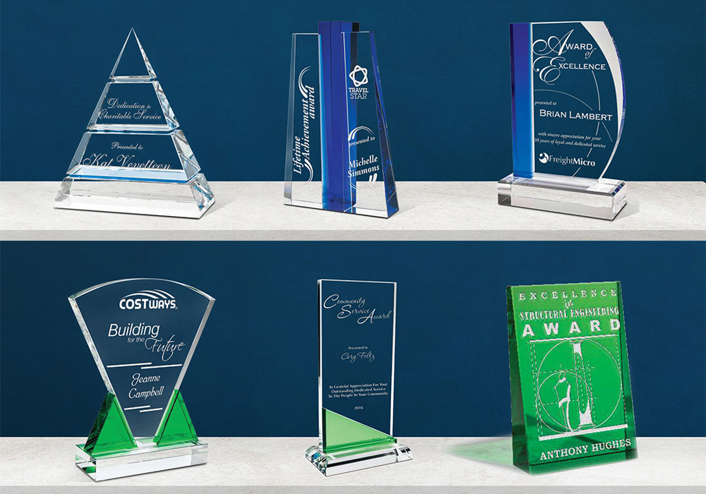 Customized Crystal trophies make your event memorable