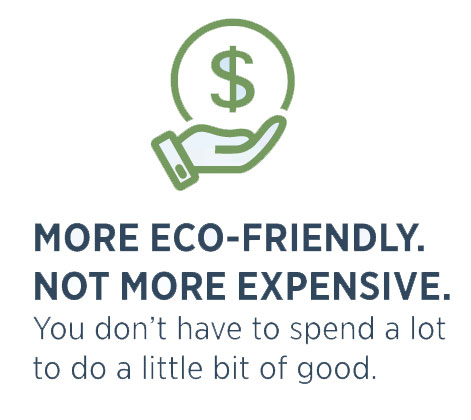 Eco-Friendly Doesn't mean more expensive