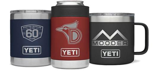 Custom YETI Products Engrave With Your Logo