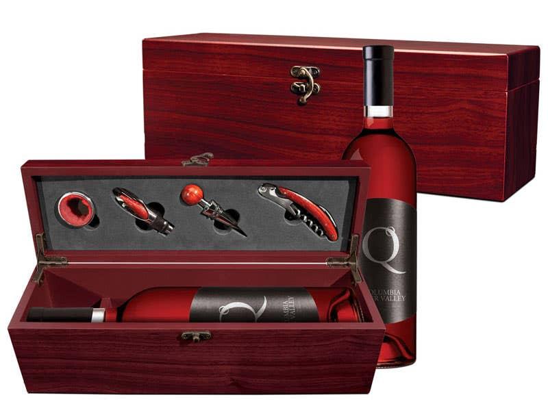 Custom Wood Wine Set