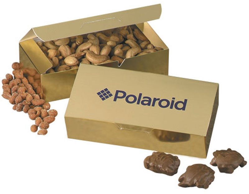Custom Gift Box with Chocolate Covered Peanuts
