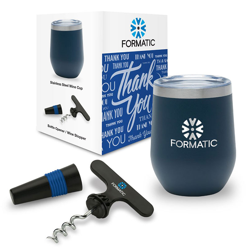 Custom Drinkware Gift Set with Packaging
