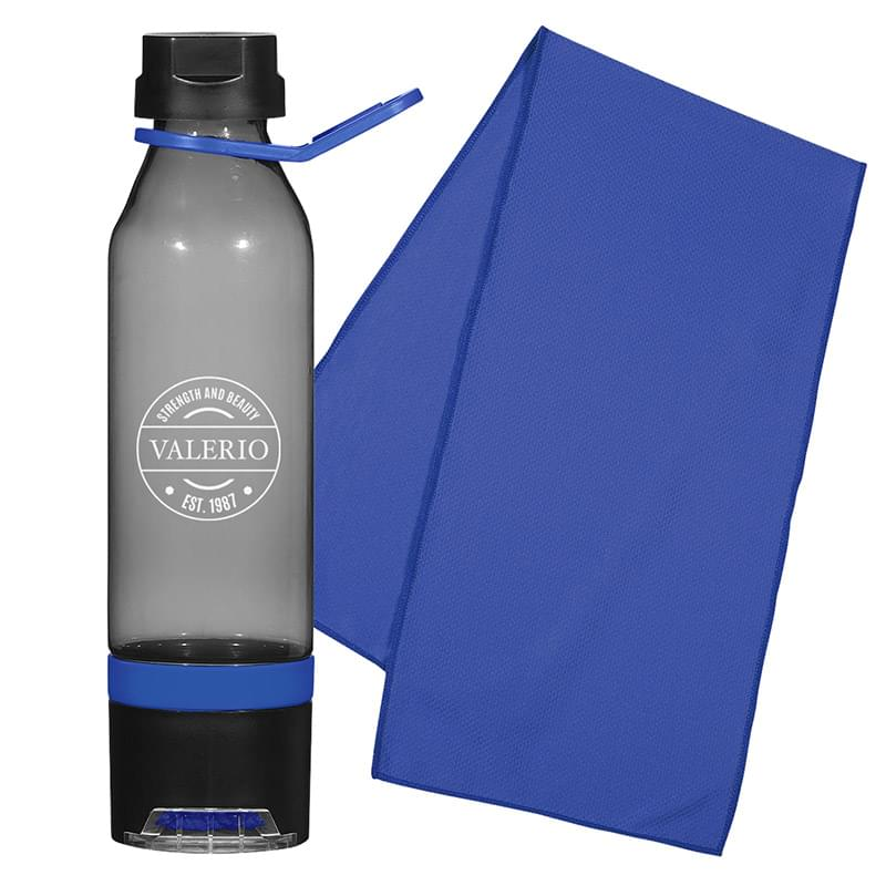 Custom Water Bottle and Towel Combo